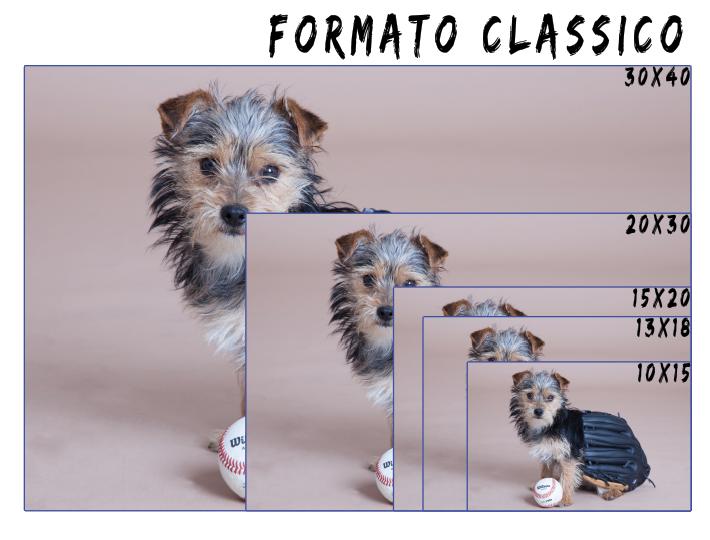 Formato classico: 10x15,13x18,15x20,20x30,30x40